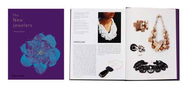 The New Jewelers/ Olivier Duopin/ Thames and Hudson 2012 Wood necklace and bracelet and Rosie ring and Lilith necklace